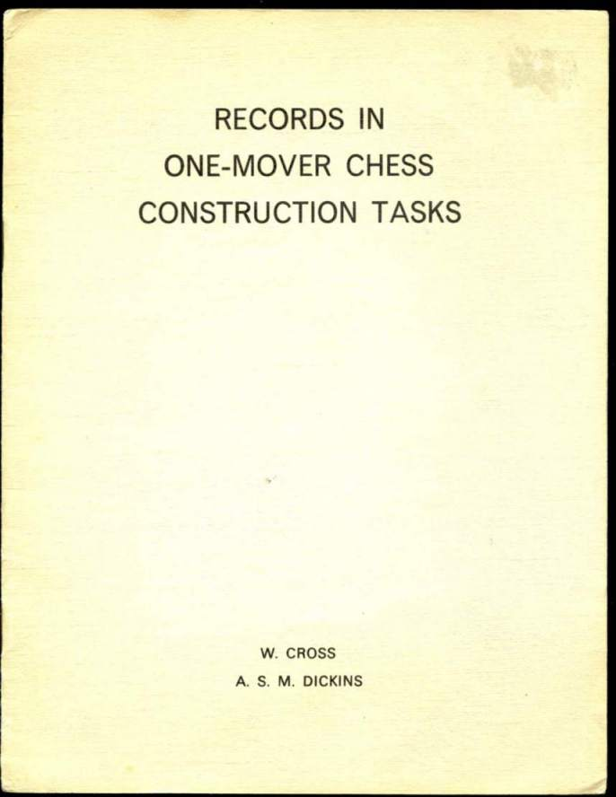Records in One-Mover Chess Construction Tasks