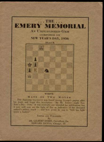The Emery Memorial: A Unpublished Gem Composed New Year