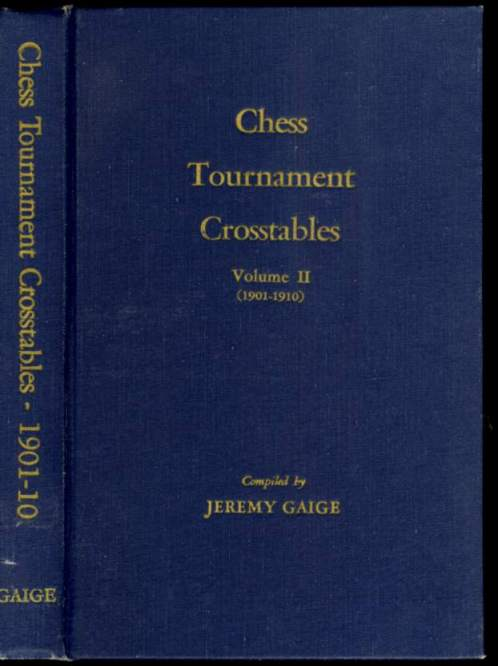 Chess Tournament Crosstables, Volume II (1901-1910)