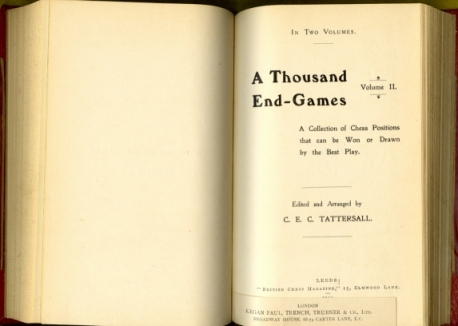 A Thousand end-games: A Collection of Chess Positions that can be Won or Drawn by the Best Play