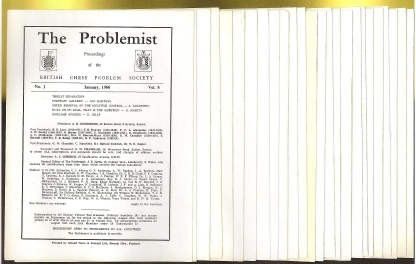 Problemist: Proceedings of the British Chess Problem Society, The