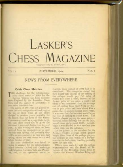 Lasker's Chess Magazine