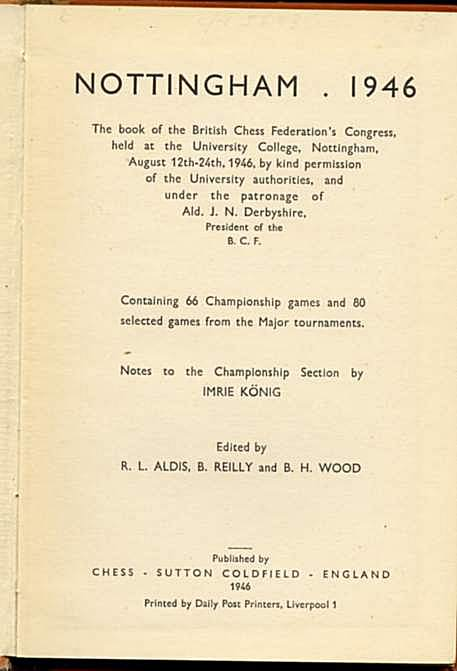 Nottingham, 1946: The Book of the British Chess Federation