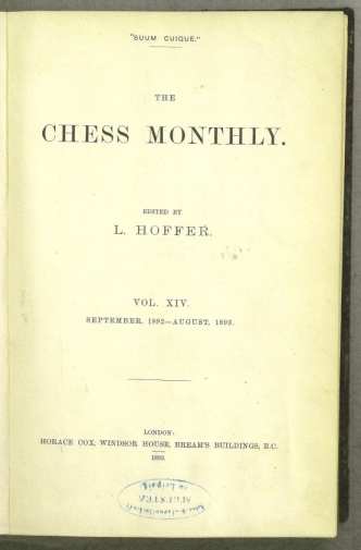 Chess Monthly, The