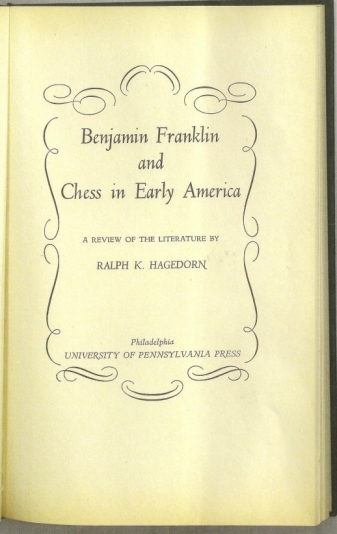 Benjamin Franklin and Chess in Early America: A Review of the Literature