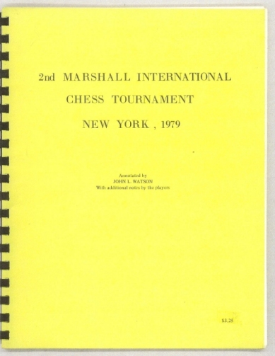 2nd Marshall International Chess Tournament, New York 1979