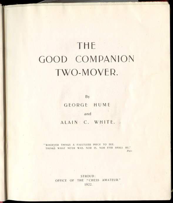 The Good Companion Two-Mover